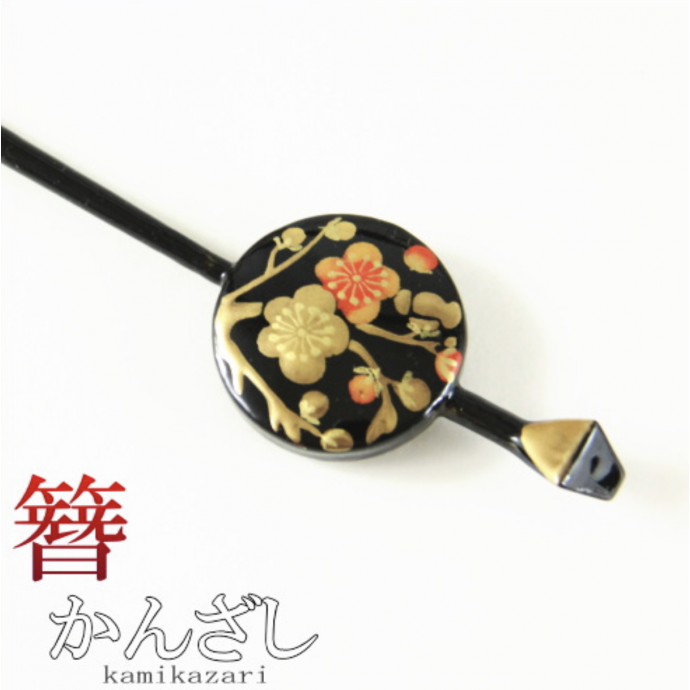 JAPANESE hair accessory - Kamikazari HAIR stick Ume Plum blossoms