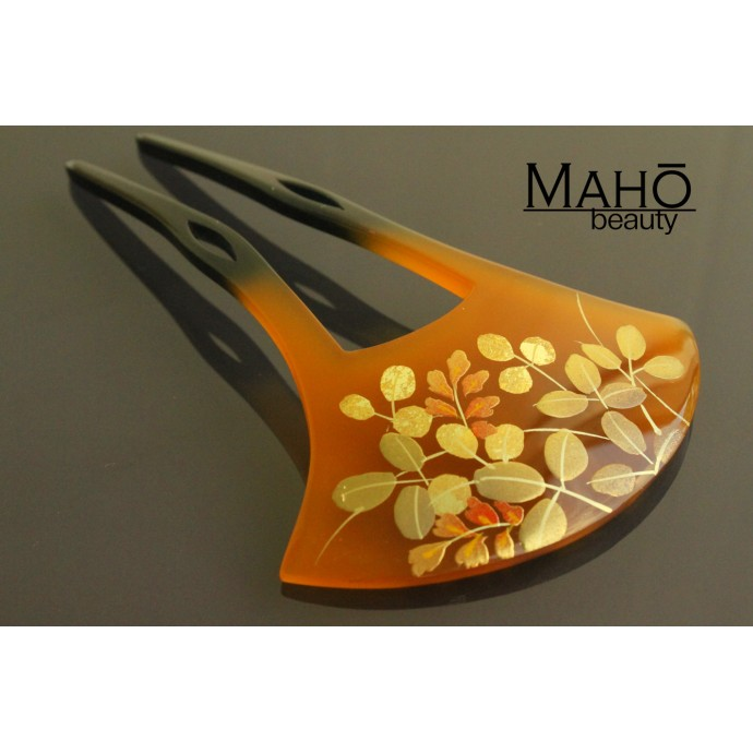 Traditional JAPANESE hair accessory - FAN KANZASHI HAIR COMB Hagi