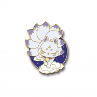 FOX Japanese KITSUNE spirit ⛩ FUSHIMI INARI ⛩ Badge Brooch