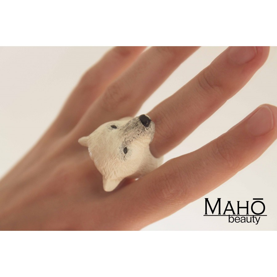 Super Cute Japanese Design Resin Animal Ring Quot Kuma Quot