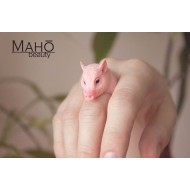 "SUPER CUTE JAPANESE DESIGN RESIN Animal Ring ""Piggy"""