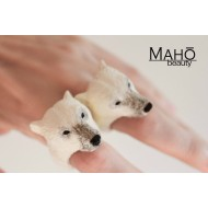 "SUPER CUTE JAPANESE DESIGN RESIN Animal Ring ""Kuma"""