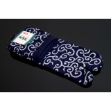 MADE IN JAPAN TABI SOCKS: KARAKUSA MOYO (ARABESQUE) 25 – 27 cm blue