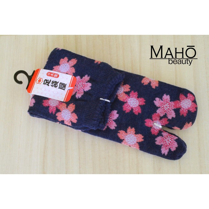 Cute MADE IN JAPAN TABI SOCKS: Sakura 22 – 25 cm Blue