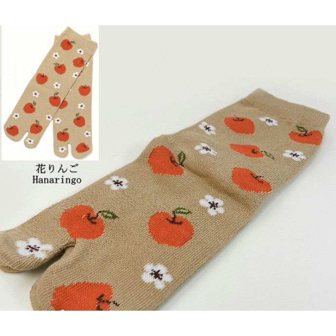 Japanese style Tabi socks RINGO - Apples
