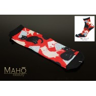 JAPANESE STYLE print SOCKS: Neko cards 22 – 25 cm Cats