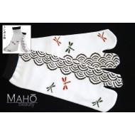 Adorable Japanese style Tabi socks: Dragonflies 22-26 cm