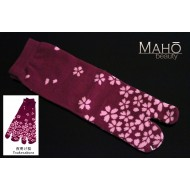 Cute Japanese style Tabi socks: 夜明け桜 yoake sakura 22-25 cm