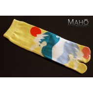 Cute Japanese style Tabi socks: Mt. Fuji