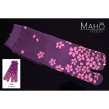 Charming Japanese style Kawaii Tabi socks: Yozakura cherry 夜桜