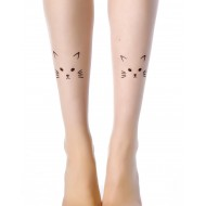 Stylish and Cute Animal Print-Tattoo Stockings: Kitty