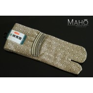 HIGH quality ORIGINAL MADE IN JAPAN TABI SOCKS: seigaiha pattern 25 – 27 cm sand