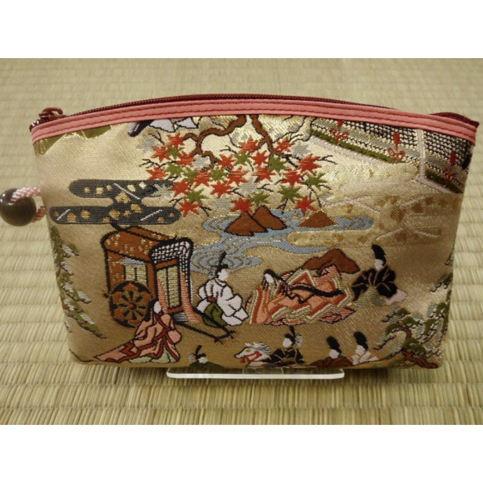Genji Monogatari unique kimono brocade pouch cosmetic case bag