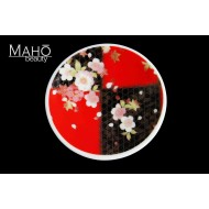 "Beautiful Japanese design fridge magnet plate 52 mm ""Red cherry"""