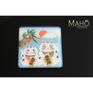 Cute Japanese design fridge magnet MANEKI NEKO 44x42 mm