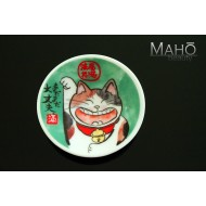 "Cute Japanese design fridge magnet plate 52 mm ""Lucky cat"""