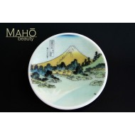 "Beautiful Japanese design fridge magnet plate 52 mm ""Hokusai – mountain Fuji"""