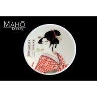 Unique Japanese design fridge magnet plate 52 mm Utamaro