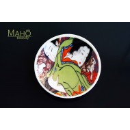 "Beautiful Japanese design fridge magnet plate 52 mm ""The hug"""