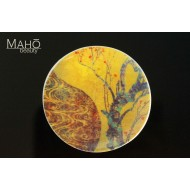 "Beautiful design fridge magnet plate 52 mm ""Golden Ume"" - Japanese plum"