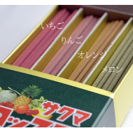 Japanese incense sticks by Kameyama: Sakuma candy scented 4 variety サクマ 40g