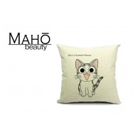 Anime Style Lovely Tabby anime kitty Chi's Sweet Home Square Pillow Case - happy