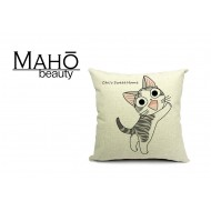 Lovely Anime Style Tabby kitty Chi's Sweet Home Square Pillow Case - playing
