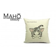 Lovely Anime Style Tabby kitty Chi's Sweet Home Square Pillow Case - Angry