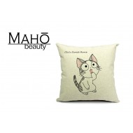 Lovely Anime Style Tabby kitty Chi's Sweet Home Square Pillow Case - Surprised