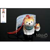Japanese symbol of summer: SHIBA Inu Dog Wind chime Furin 柴犬親子 Wanko