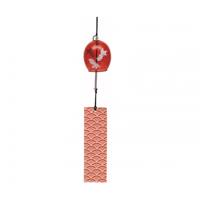 JAPANESE FURIN GLASS WIND CHIME - Charming tinkle sound. 金魚 Kingyo Goldfish
