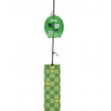 JAPANESE FURIN GLASS WIND CHIME - Charming and refreshing tinkle sound. chidori plover 千鳥