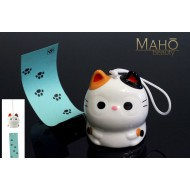 Japanese wind chime FURIN Lovely Mike Neko cat