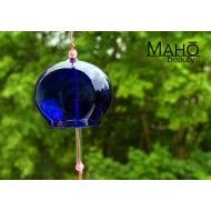 JAPANESE FURIN GLASS WIND CHIME - Charming and refreshing tinkle sound. Indigo blue
