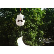 Japanese symbol of summer: Lovely Maneki Neko fortune cat wind chime FURIN