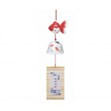 Edo Furin Japanese wind chime bell Goldfish Kingyo 赤金魚