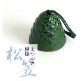 Japanese symbol of summer: Iwachu Cast Iron Wind chime Furin green あお
