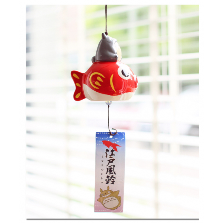 Japanese Symbol Of Summer Wind Chime Furin Totoro Goldfish