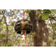 "Traditional Japanese symbol of summer: Wind bell Furin ""Golden Susuki"""