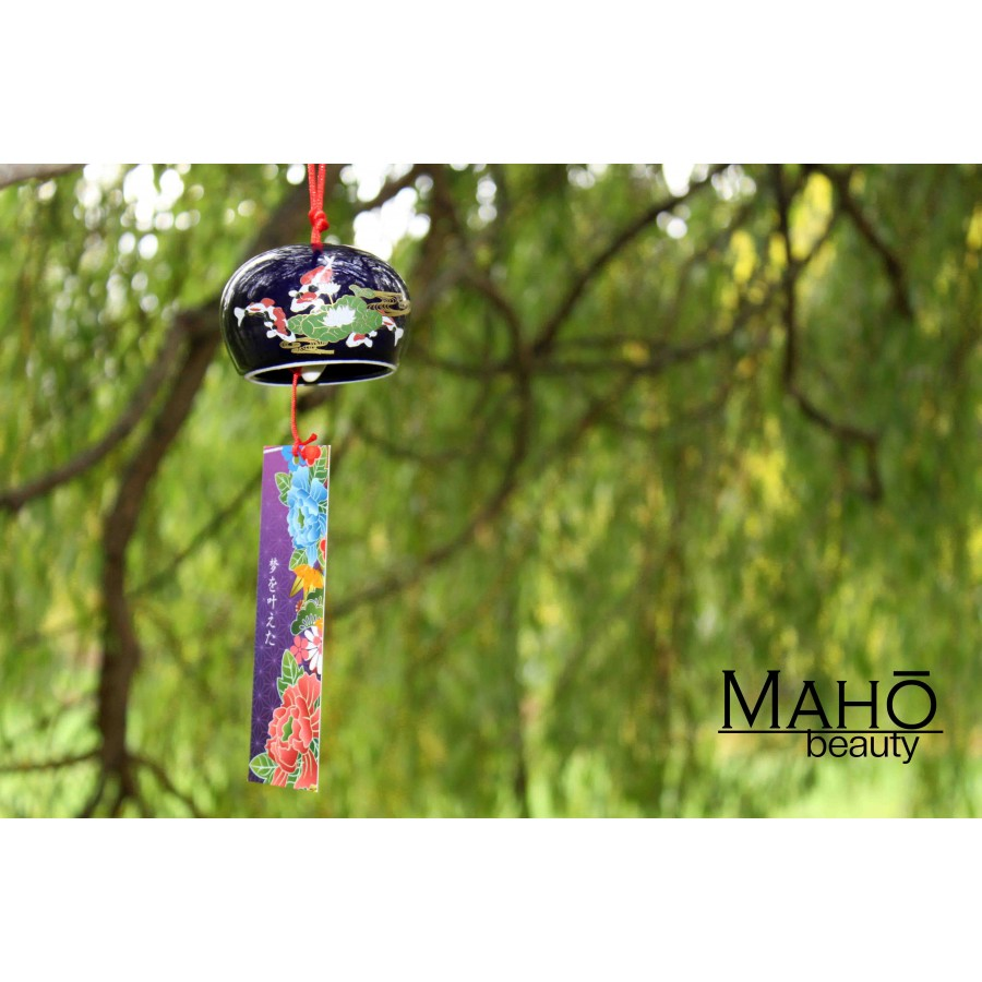 Traditional japanese symbol of summer wind chime furin koi for Koi fish wind chime