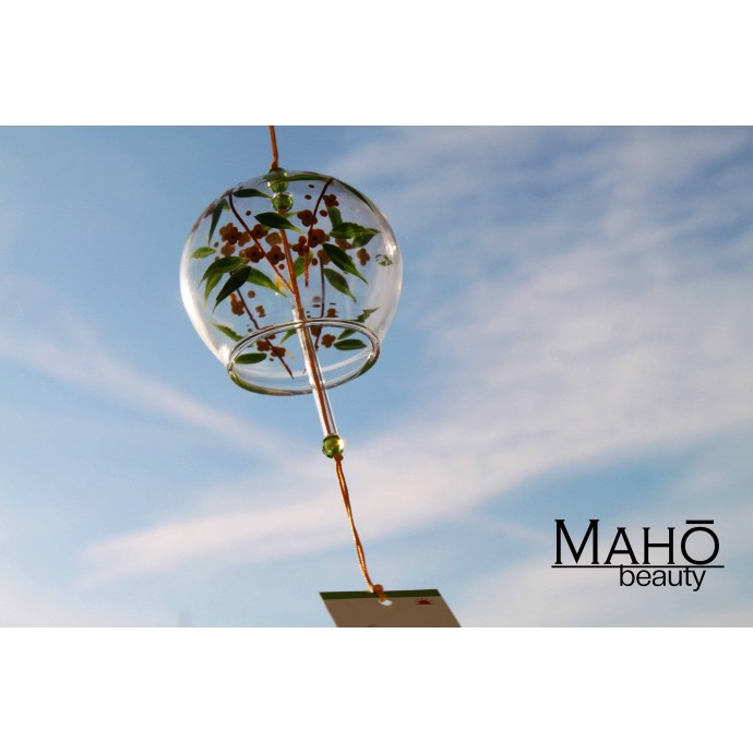 "Traditional Japanese symbol of summer: Glass wind bell Furin ""Wild flowers"""